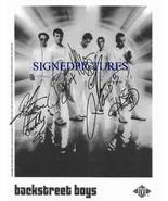 THE BACKSTREET BOYS GROUP SIGNED AUTOGRAPHED AUTOGRAM 8x10 RP PHOTO - $18.99