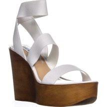 Steve Madden Blondy Wedge Heel Sandals, White - $39.99