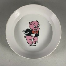 "Vintage Warner Brothers PORKY PIG Plastic Small White Bowl - 5.5"" Diameter - $14.25"