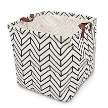 Print Foldable Clothing Toys Storage Basket Laundry Hamper - $12.98