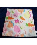 Happy Easter throw pillow cover eggs bunnies chickens carrots tulips 17.... - $11.88