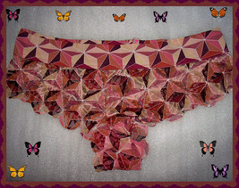 LARGE Brown GEO Date Lace PINK Victorias Secret Cheekster lowrise Pantie - $10.99
