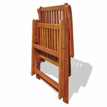 vidaXL 2x Acacia Wood Outdoor Dining Chair Home Kitchen Furniture Seat Dinner image 8