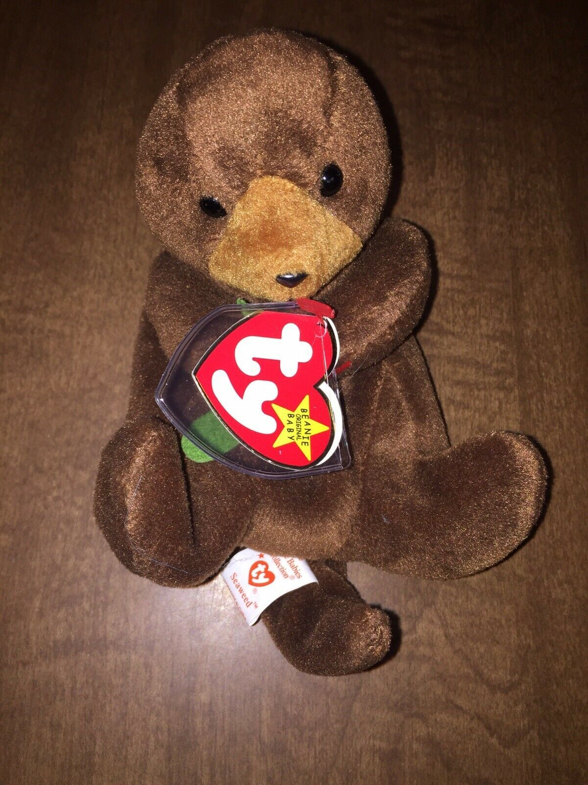 Primary image for Ty Seaweed Otter Beanie Baby 1995 Retired MWMT