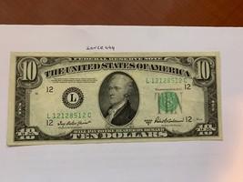 United States Hamilton $10 circulated banknote 1950 B #4 - $32.95