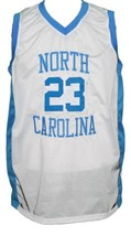 Michael Jordan #23 College Basketball Jersey Sewn White Any Size image 1