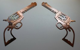 """Pair of Colt 1873 Peacemakers Decor Copper/Bronze Plated 10 3/4"""" x 5 1/2"""" - $29.98"""