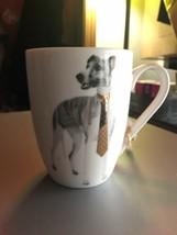 GREYHOUND DOG MUG COFFEE WITH TIE - $17.37