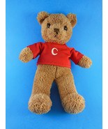 "Commonwealth  Plush Teddy Bear 11""  with C initial on red shirt 2004 - $8.90"