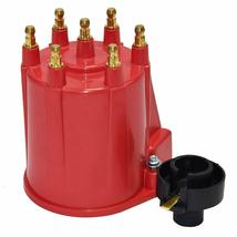 GM 90° V6 262 ci 4.3 6-Cylinder TBI EFI Distributor Cap & Rotor Kit Red Chevy image 4