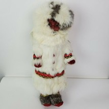 NWT Disney Vintage Indien Art Eskimo Indian Doll Authentic Fur Made in C... - $75.22