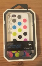 INCIPIO Customizable DOTTIES Silicone Case FOR iPHONE 4/4S Multi-Colored... - $5.19
