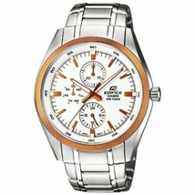 Casio Edifice EF-338DB-7ADF Analog Men's Stainless Steel Water Resistant... - $118.80
