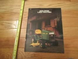 John Deere Lawn tractors Vintage Dealer sales brochure #4 - $14.99