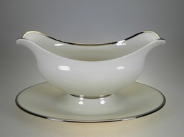 Lenox Montclair Gravy Boat With Attached Liner - $59.35