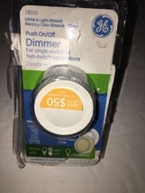 GE 18020 3-Way Ligth Dimmer with Push Knob - White/ Light Almond 120V 60... - $5.80