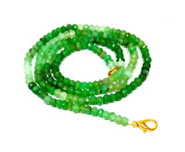 """Natural Chrysoprase Faceted Beads 3-4MM Necklace Strand 16"""" Inch Jewelry - $21.16"""