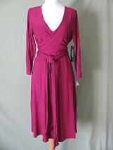 b833 LAUREN Ralph Lauren Womens Tie Knot 3/4 Sleeve Knit Dress L - $59.39