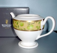 Waterford Golden Apple Teapot 18K Trim No Lid Boxed New - $48.90