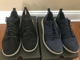 Timberland FlyRoam Men's Leather Shoes Black or Dark Blue - $112.99