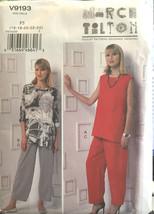 Vogue 9193 Misses Tunic Pants Sizes 16-24 Vintage Sewing Pattern Uncut - $21.53