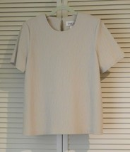 Simply Susan Graver Solid Short Sleeve Shell Toteable Medium Light Taupe - $29.99
