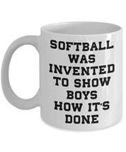 PixiDoodle Women's Softball Player Fan Girls Are Better Coffee Mug (11 oz, White - $18.80