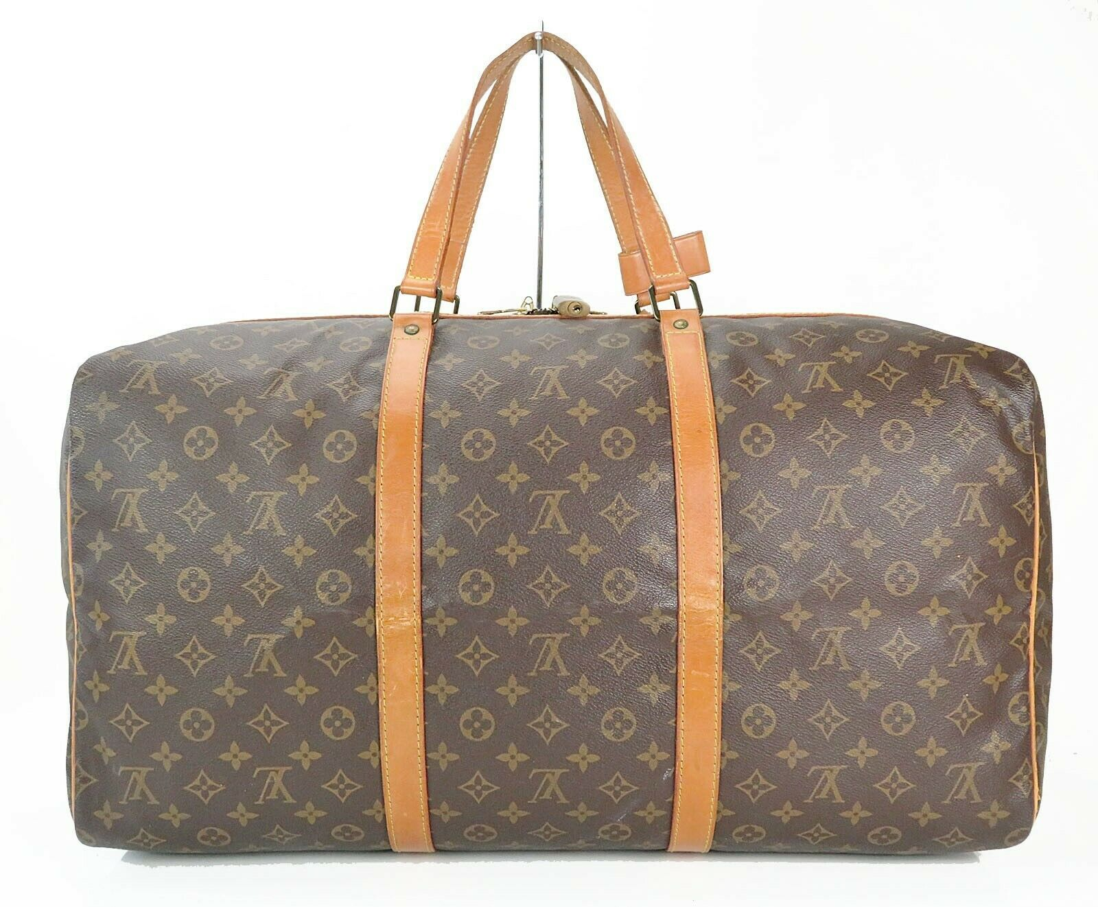 Authentic LOUIS VUITTON Sac Souple 55 Monogram Tote Duffle Bag #34978 image 3