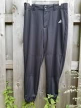 adidas Mens Climalite Baseball Pants Large Training Black Athletic Incite Closed - $33.24