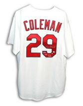 """Autographed Vince Coleman Majestic Jersey St. Louis Cardinals """"1985 N.L. R.O.Y. - $206.00"""