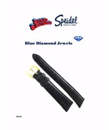 20mm Speidel Genuine Lizard Black Padded Stitched Watch Band Wholesale - $14.50