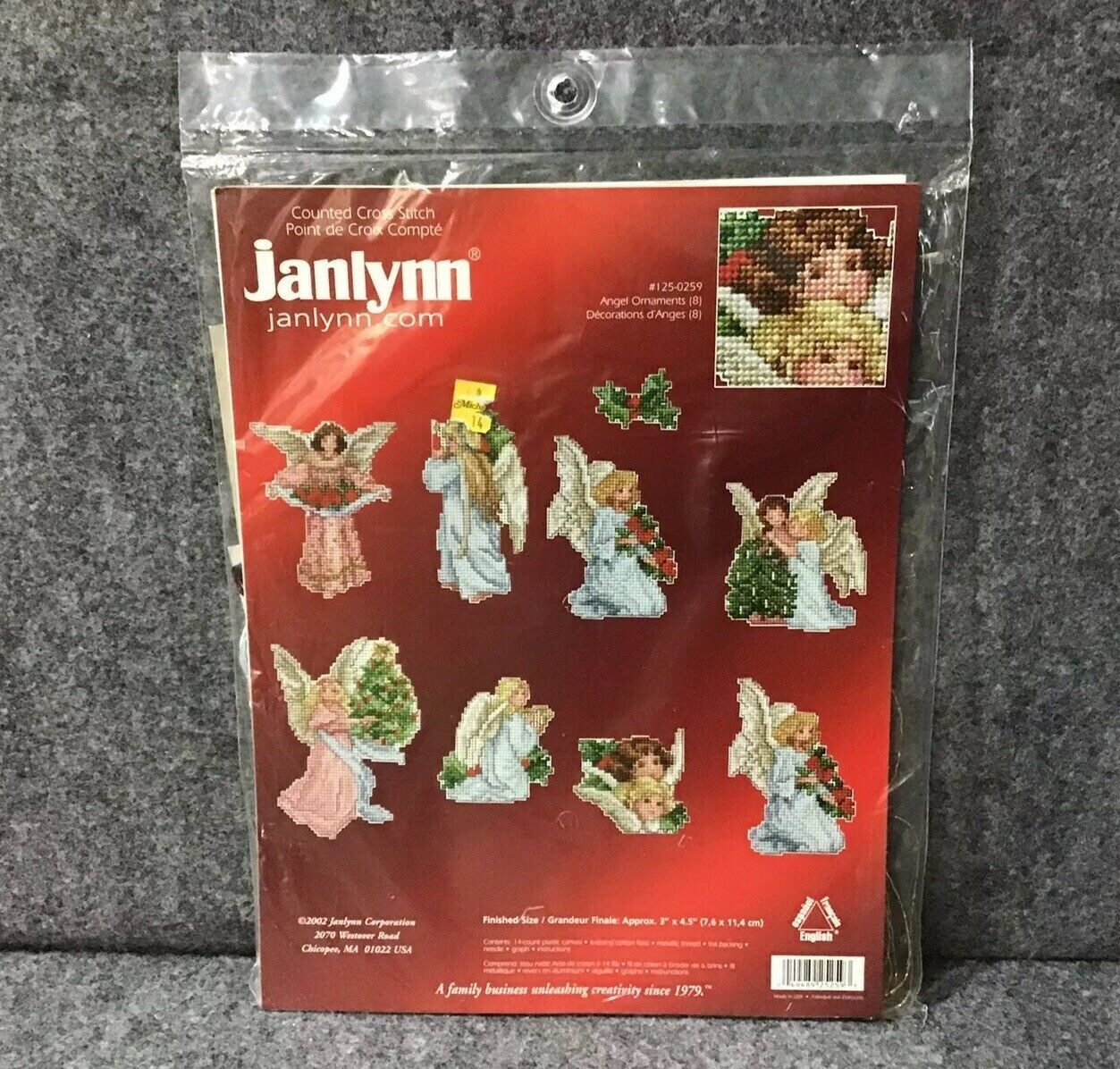 Primary image for Janlynn Counted Cross Stitch #125-0259 Angel Christmas Ornament Kit