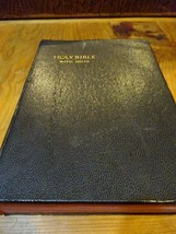 1952 Holy Bible With Helps Red Letter Edition Colorized Biblical Land Pages - $14.99