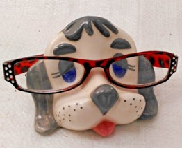 Dog/Puppy Eyeglass Caddy Stand~Vintage Ceramic - $10.00