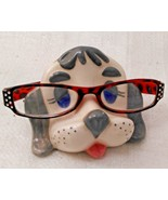 Dog/Puppy Eyeglass Caddy Stand~Vintage Ceramic - $11.87