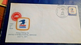 East Chatham NY, 1st Day Inaugerating USPS Envelope,Jul 1 1971, 8 cent s... - $3.95