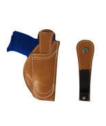 New Barsony Tan Leather 360Carry 12 Option OWB IWB Holster 380 Ultra Com... - $64.99