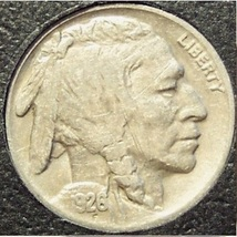 1926 Buffalo Nickel VF20 3/4 Horn #446 - $4.45