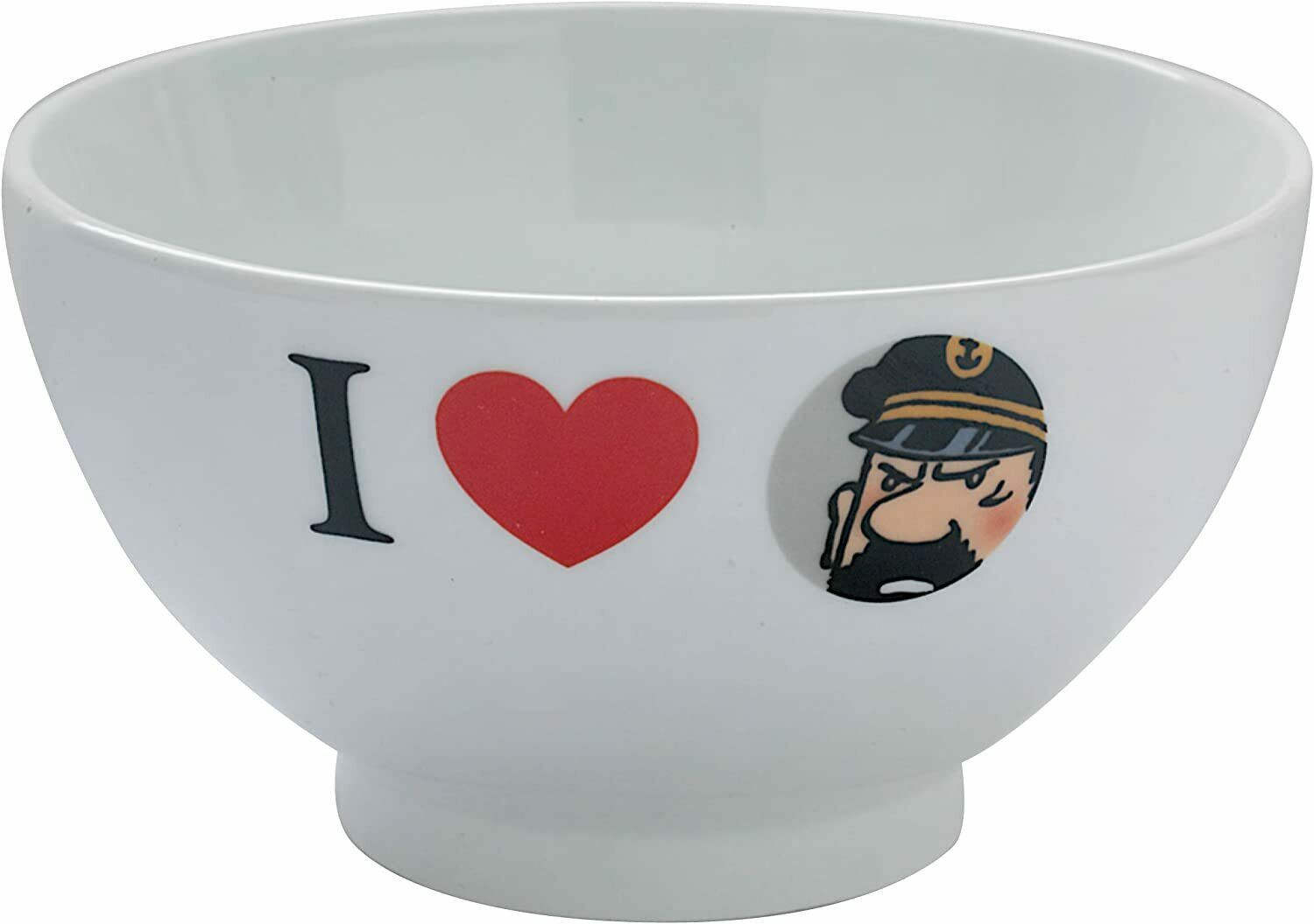 I Love Captain Haddock porcelain bowl in gift box Tintin official product