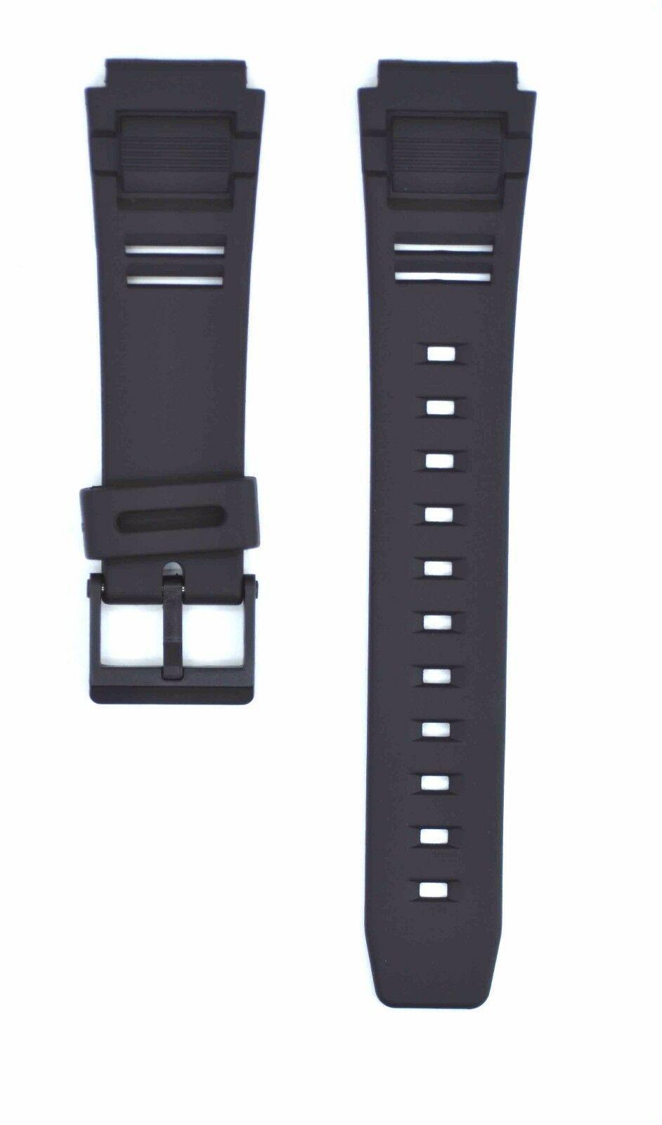 Compatible Casio DB-81 17mm Black Rubber Watch Strap CAS122
