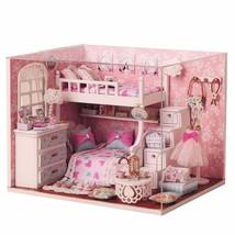 Miniature Dollhouse Handmade DIY Wooden Doll House Miniature Furniture C... - $33.90