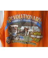 Harley Davidson T Shirt Williamsburg Virginia VA Tank Top Men's Sz XL - $9.89
