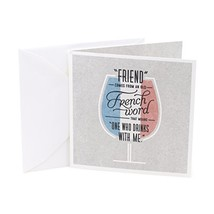 Hallmark Studio Ink Friendship Greeting Card One Who Drinks with Me - $5.30