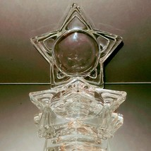 2 (Two) HOME INTERIORS Lead Crystal Pentacle Star Candle Base image 2