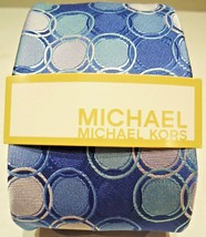 MICHAEL KORS - BLUE - AQUA - PURPLE - CIRCLES - SILK - TIE - NEW - ACCES... - £15.87 GBP