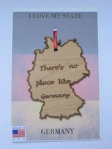 There's No Place Like Germany Wood Ornament Made in the USA - $5.95