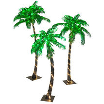 LED Palm Tree Curved Lighted Outdoor Decoration Pool Patio Commercial Gr... - $125.00