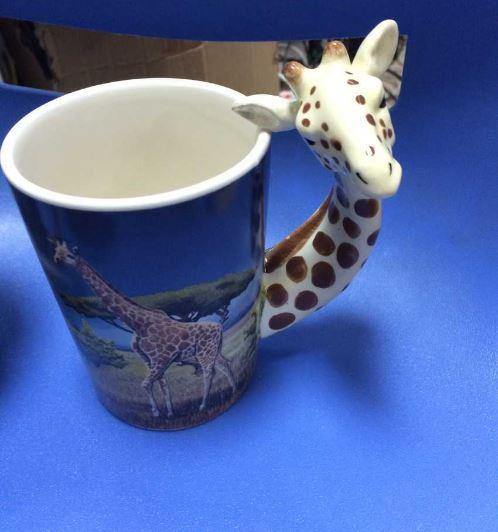 Lovely 3D Giraffe Cup Coffee Milk Tea Mug Drinkware Gift