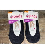 Peds ~ 6-Pair Women's Ultra Low Liner Sparkle Gel Tab Grippers ~ Petite 4-7 - $12.19