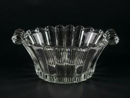 Heisey Crystolite Mayonnaise Bowl, Vintage Elegant Glass Oval Handled Ma... - $19.60